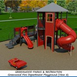 New Fire Department Themed Pocket Park in Greenwood