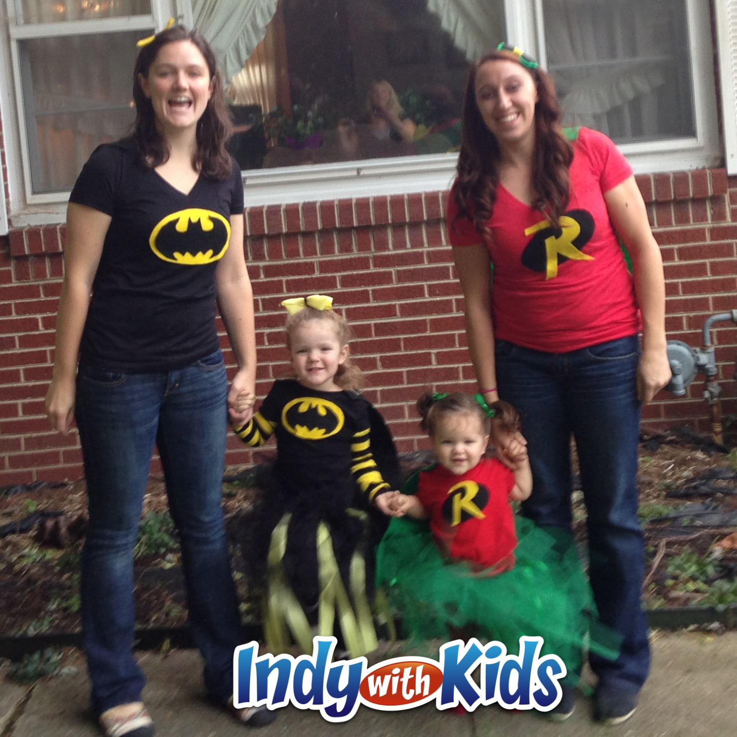 DIY Halloween Costumes Batman u0026 Robin with Tutus  sc 1 st  Indy with Kids & Caped Crusader Halloween Costumes: Batman u0026 Robin with Tutus