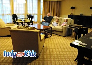 An adjoining parlor space is perfect for large families or travelers who just need a lot of space to stretch out.