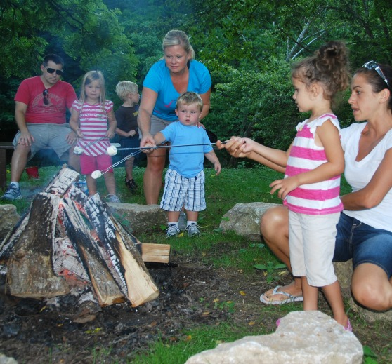 Roasting S'mores at Bonnybrook Farms