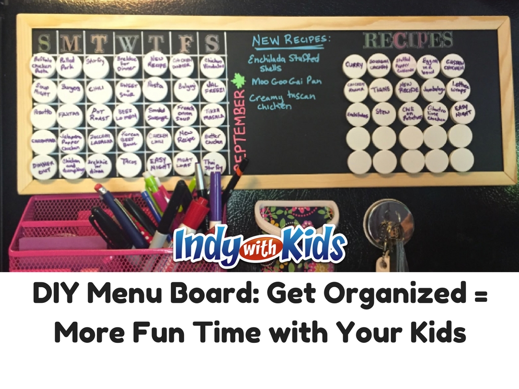 DIY Menu Planning Board | Organizing Life for More Fun with Your Kids