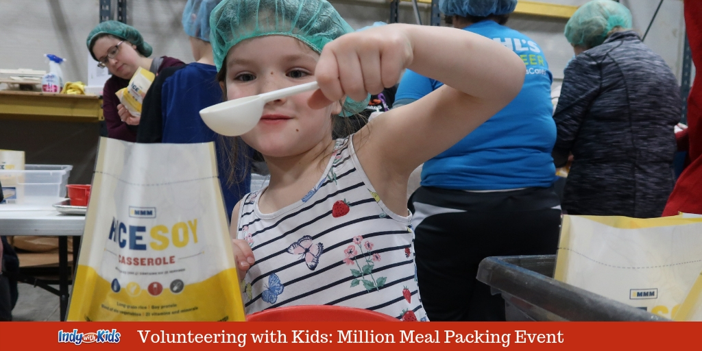 Volunteering with Kids: Million Meal Movement Packing Days