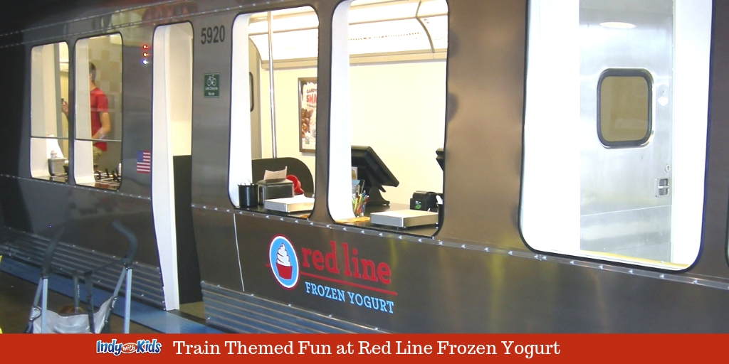 Red Line Frozen Yogurt | Treats on a Train in Indianapolis